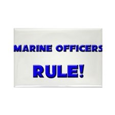 Marine Officers Rule! Rectangle Magnet (10 pack)