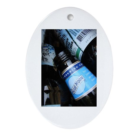 beer bottles Oval Ornament