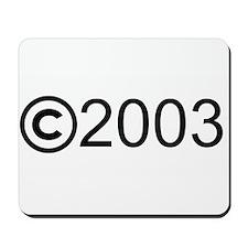 Copyright 2003 Mousepad