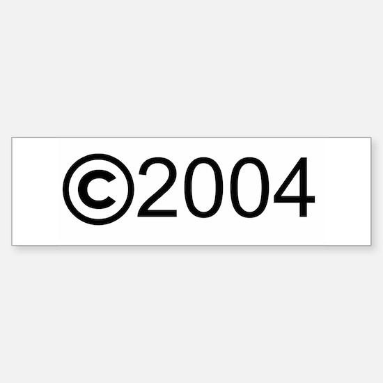 Copyright 2004 Bumper Bumper Bumper Sticker
