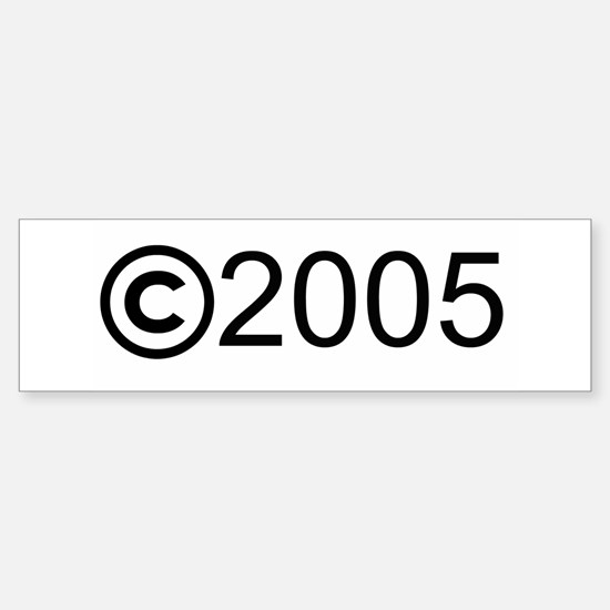 Copyright 2005 Bumper Bumper Bumper Sticker