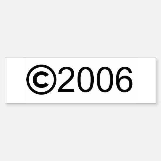 Copyright 2006 Bumper Bumper Bumper Sticker
