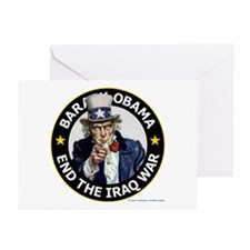 Obama End the Iraq War a Greeting Cards (Pk of 10)