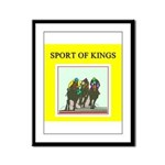 horse racing gifts t-shirts Framed Panel Print