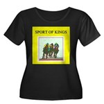 horse racing gifts t-shirts Women's Plus Size Scoo