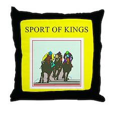horse racing gifts t-shirts Throw Pillow