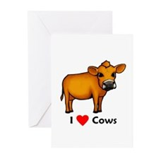 I Love Cows Greeting Cards (Pk of 20)
