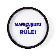 Manicurists Rule! Wall Clock