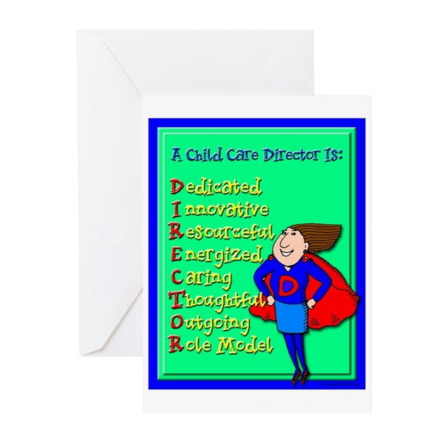 d i r e c t o r child care director greeting card by