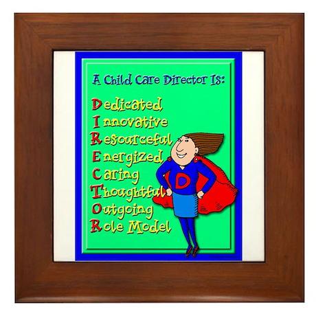 D.I.R.E.C.T.O.R. Child Care Director Framed Tile