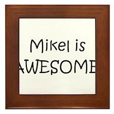 Cool Mikel Framed Tile