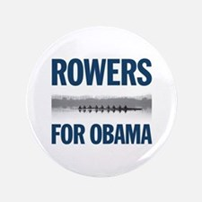 "Rowers for Obama 3.5"" Button"