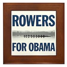 Rowers for Obama Framed Tile