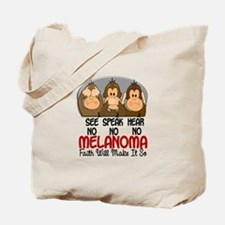 See Speak Hear No Melanoma 1 Tote Bag