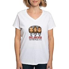 See Speak Hear No Melanoma 1 Shirt