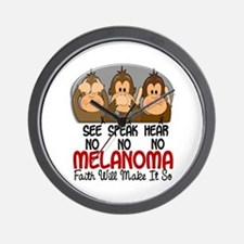 See Speak Hear No Melanoma 1 Wall Clock