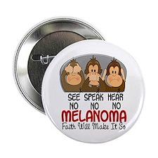 "See Speak Hear No Melanoma 1 2.25"" Button (10 pack"