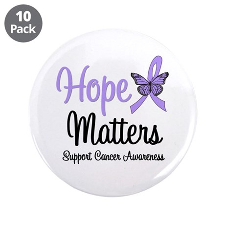 "General Cancer Awareness 3.5"" Button (10 pack"