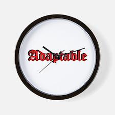 """""""Adaptable"""" Wall Clock"""