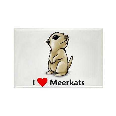 I Love Meerkats Rectangle Magnet (100 pack)