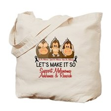 See Speak Hear No Melanoma 2 Tote Bag