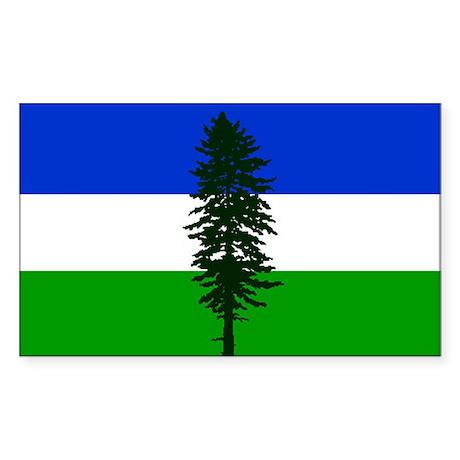 Cascadia bumper Rectangle Sticker