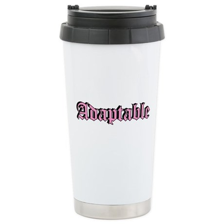"""Adaptable"" Stainless Steel Travel Mug"