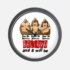 See Speak Hear No Melanoma 3 Wall Clock
