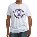 General Cancer Awareness Fitted T-Shirt