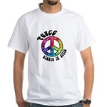 Peace Always in Style White T-Shirt