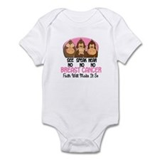 See Speak Hear No Breast Cancer 1 Infant Bodysuit