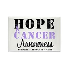 General Cancer Awareness Rectangle Magnet