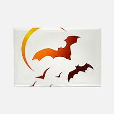 Flying Vampire Bats Rectangle Magnet
