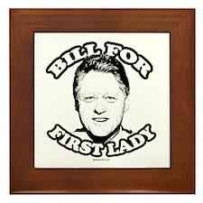 Bill for first lady ~ Framed Tile
