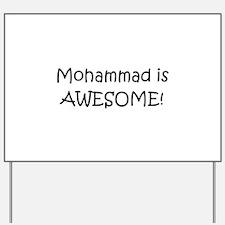 Mohammad Yard Sign