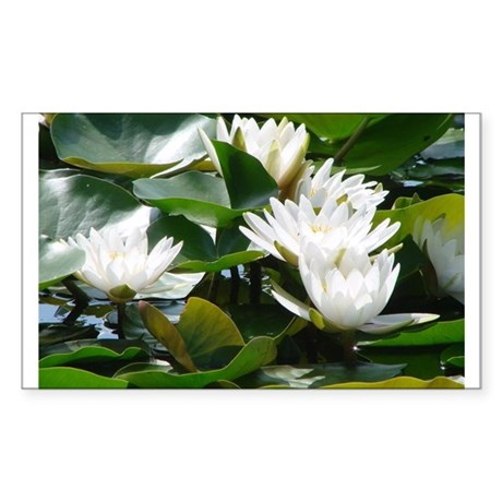 water lilies Rectangle Sticker