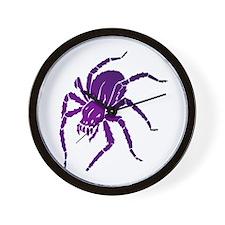 Purple Spider Wall Clock