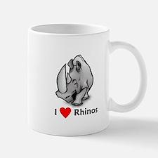 I Love Rhinos Mug