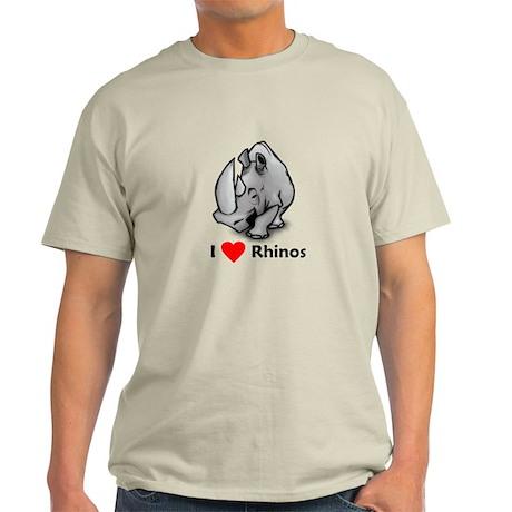 I Love Rhinos Light T-Shirt