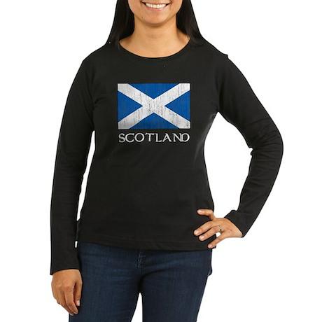 Scotland Flag Women's Long Sleeve Dark T-Shirt