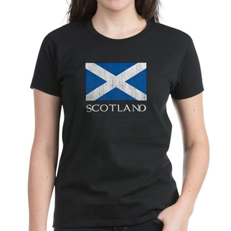 Scotland Flag Women's Dark T-Shirt