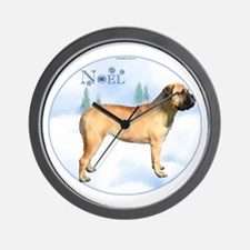 Bullmastiff Noel Wall Clock