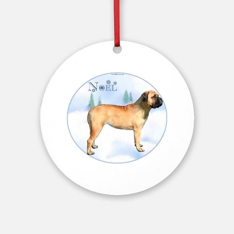 Bullmastiff Noel Ornament (Round)