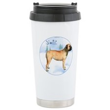Bullmastiff Noel Travel Mug