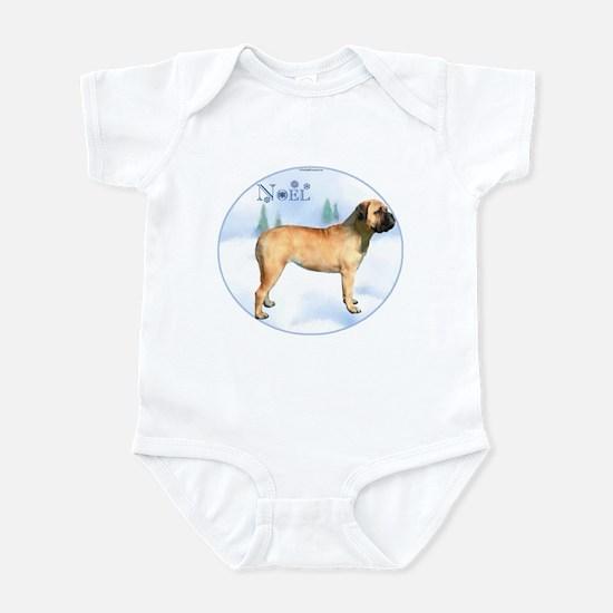 Bullmastiff Noel Infant Bodysuit