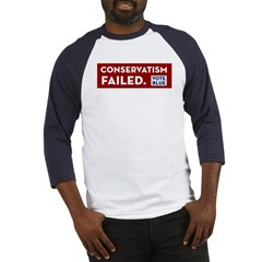 Conservatism Failed, Vote Blue Baseball Jersey