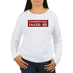 Conservatism Failed, Vote Blue T-Shirt