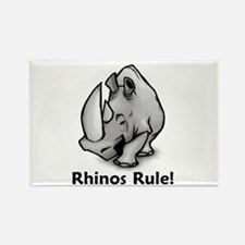 Rhinos Rule! Rectangle Magnet (100 pack)
