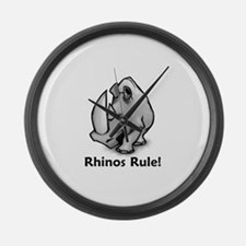 Rhinos Rule! Large Wall Clock