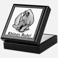 Rhinos Rule! Keepsake Box